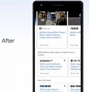Google започва да използва BERT за генериране на въртящи се карусели в търсенето