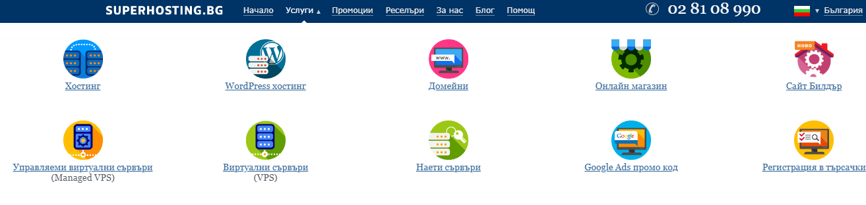 изберете дали ще поръчвате хостинг или домейн