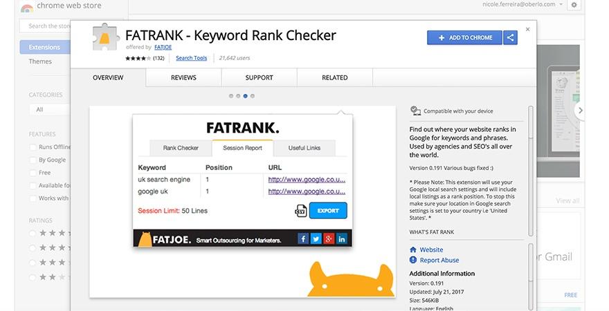 Fat Rank: SEO Tools