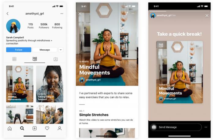 "Instagram представи новия формат на публикациите "" Guides»"